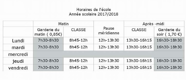 horaires-ecole-2017