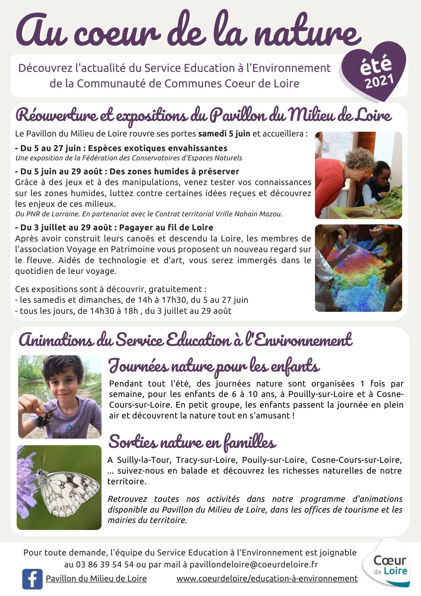 Actualités Serv Educ Envir – CC Coeur de Loire – été 2021