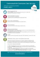 fermetures des services CC Coeur de Loire noël 2020