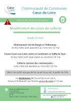modifs collecte ordures menageres 13 mai 21