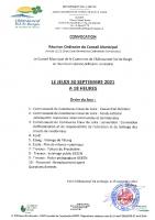 convocation CM 30 09 21